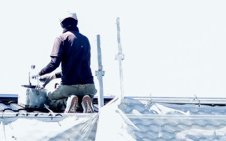 屋根塗装工事の写真